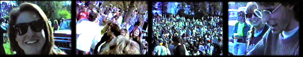 Stills from the video taken of friends in the crowd during Freak Week in Ames